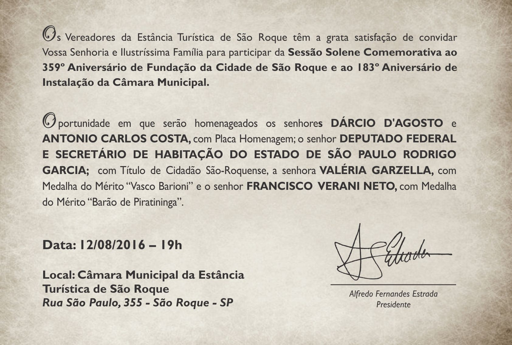 Convite - Camara Municipal de Sao Roque 23