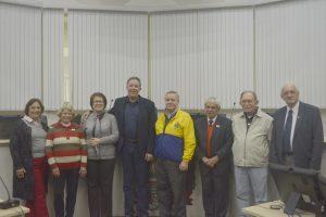 Representantes do Lions Clube visitam a Câmara Municipal