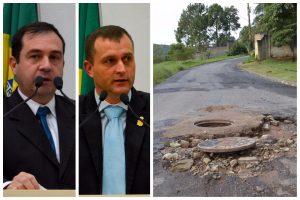 Alexandre Pierroni e Cabo Jean lutam por melhorias no asfalto da Rua Anésio de Moraes
