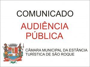 Audiência Pública será nesta terça-feira, dia 20