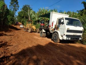Reivindicação do Vereador Etelvino resulta na manutenção de estradas rurais