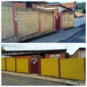 Cabo Jean e comunidade realizam melhorias na EMEI Donaldo Lopes