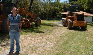 Vereador Alexandre Pierroni acompanha serviços de melhorias na Capela de Santo Antônio