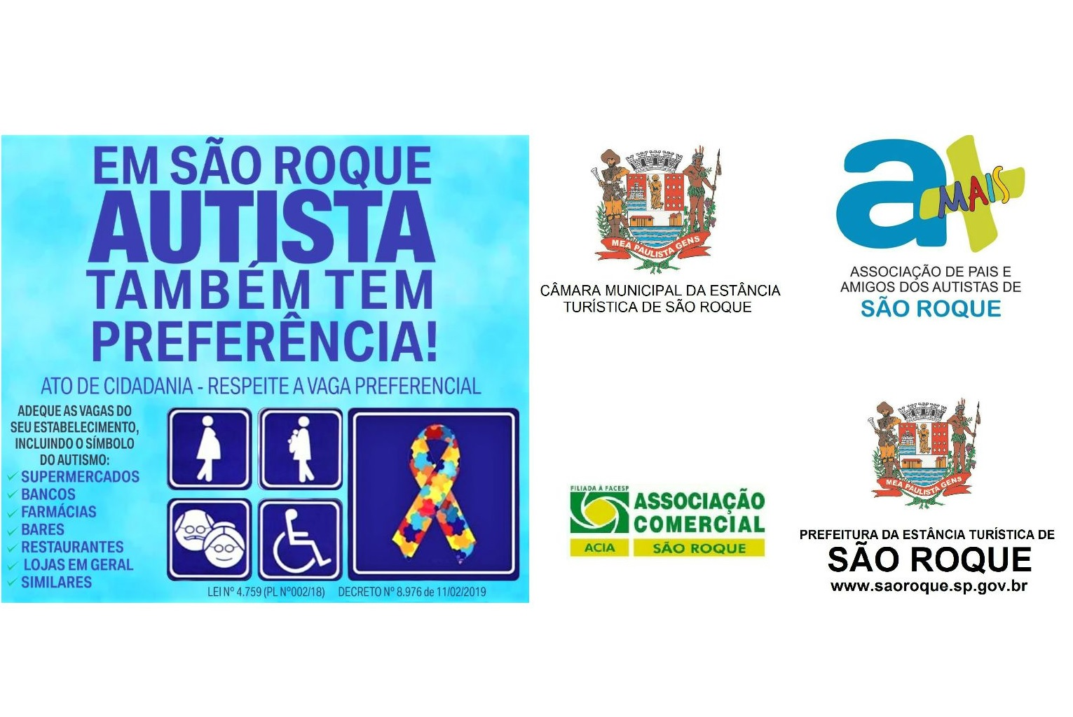 Lei de Niltinho Bastos é regulamentada e símbolo do autismo deve ser incluído entre detentores de direitos a atendimentos prioritários no município