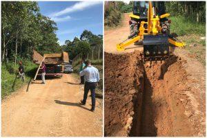 Vereador Marquinho Arruda comemora início das obras de rede de água no Jardim Renê