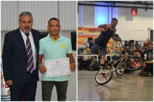 Vereador Julio Mariano homenageia atleta de são roque vice-campeão brasileiro de BMX Flatland