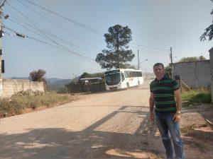 Transporte público de São Roque passa a circular e atender moradores do Bairro Monte Serrat após pedido do Vereador Cabo Jean