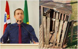 Vereador Cabo Jean pede novas lixeiras para o município