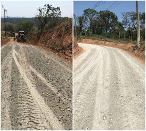 Vereador Rafael Tanzi acompanha manutenção de estradas