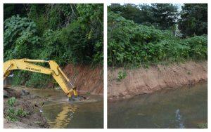Prosseguem os serviços de desassoreamento do Rio Guaçu após solicitação do Vereador Toco