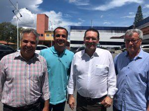 Vereador Marquinho Arruda, Prefeito Claudio Góes e Deputado Vitor Lippi anunciam Emenda de R$1,5 milhão para a Santa Casa
