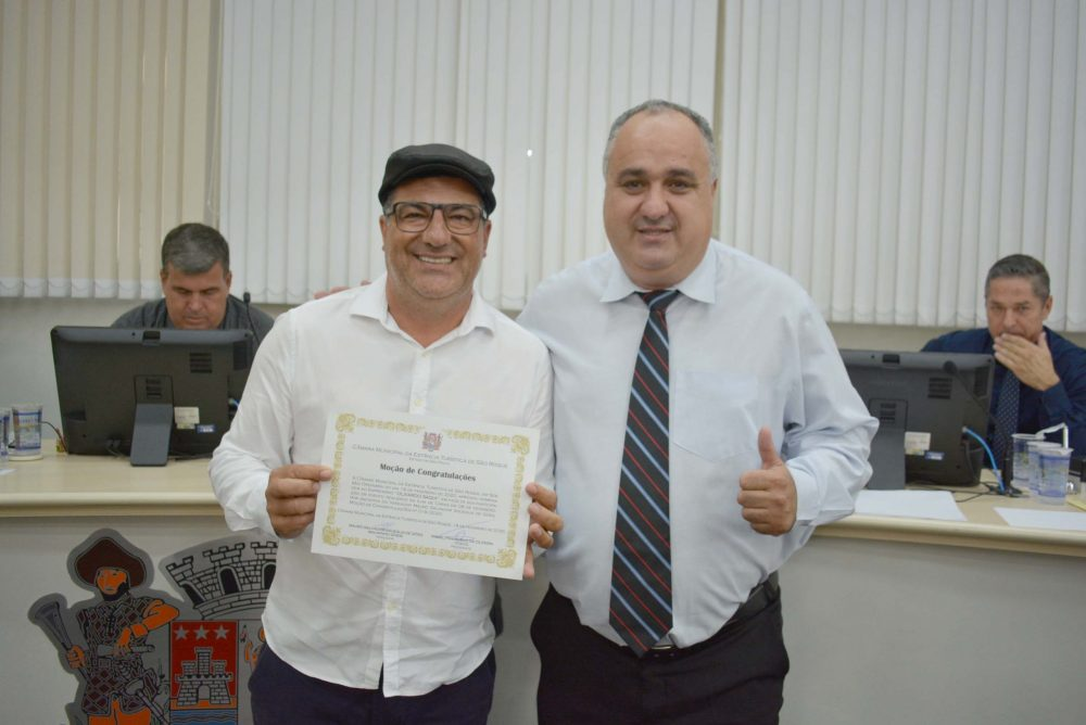 Empresário Olivardo Saqui é homenageado na Câmara Municipal