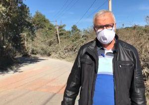 Vereador Etelvino cobra solução para obras inacabadas da Estrada do Caetê