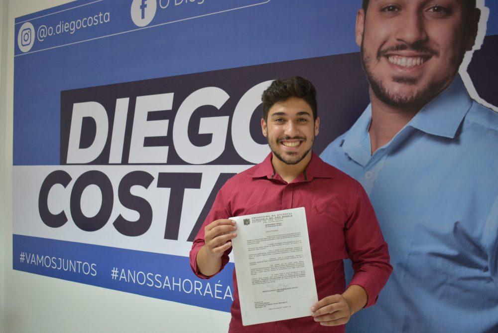 Vereador Diego Costa comemora aprovação de Projeto que repassa R$100 mil ao Fundo Municipal de Cultura