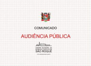 Comissão de Orçamento, Finanças e Contabilidade da Câmara realiza audiência pública para prestação de contas da Prefeitura