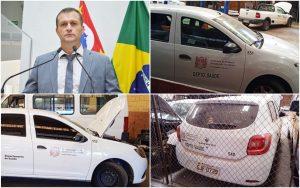 Cabo Jean cobra agilidade no conserto dos carros da Saúde parados na oficina da Prefeitura