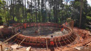 Vereador Rafael Tanzi segue acompanhando as obras do novo reservatório de água no Alto da Serra