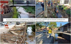 Vereador Thiago Nunes agradece Prefeitura por reconstruir muro de arrimo do rio Taxaquara