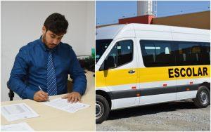 Vereador Diego Costa pede ajuda para os transportadores escolares aos Governos Municipal e Federal