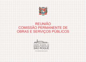 Reunião Comissão Permanente de Obras e Serviços Públicos realizada em 15 de abril de 2021