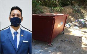 Vereador William Albuquerque pede coleta domiciliar de lixo no bairro Vinhedos