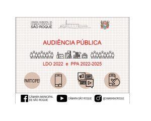 Câmara Municipal realiza audiência pública sobre o plano plurianual e as diretrizes orçamentárias