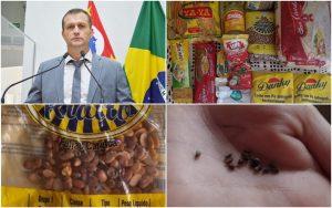 """Vereador Cabo Jean questiona e cobra providências urgentes sobre os kit merenda com """"carunchos"""""""